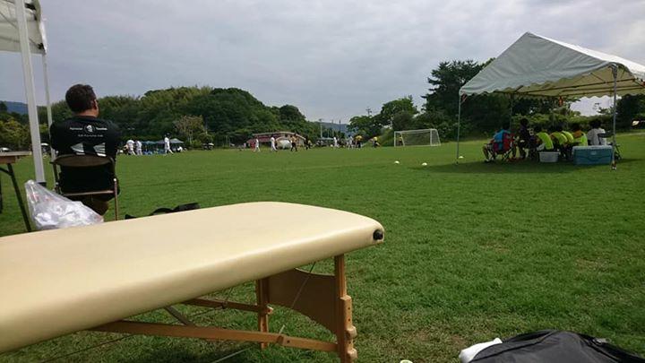 昨日と今日、延岡市の中体連サッカー競技の救護に行って来ました。